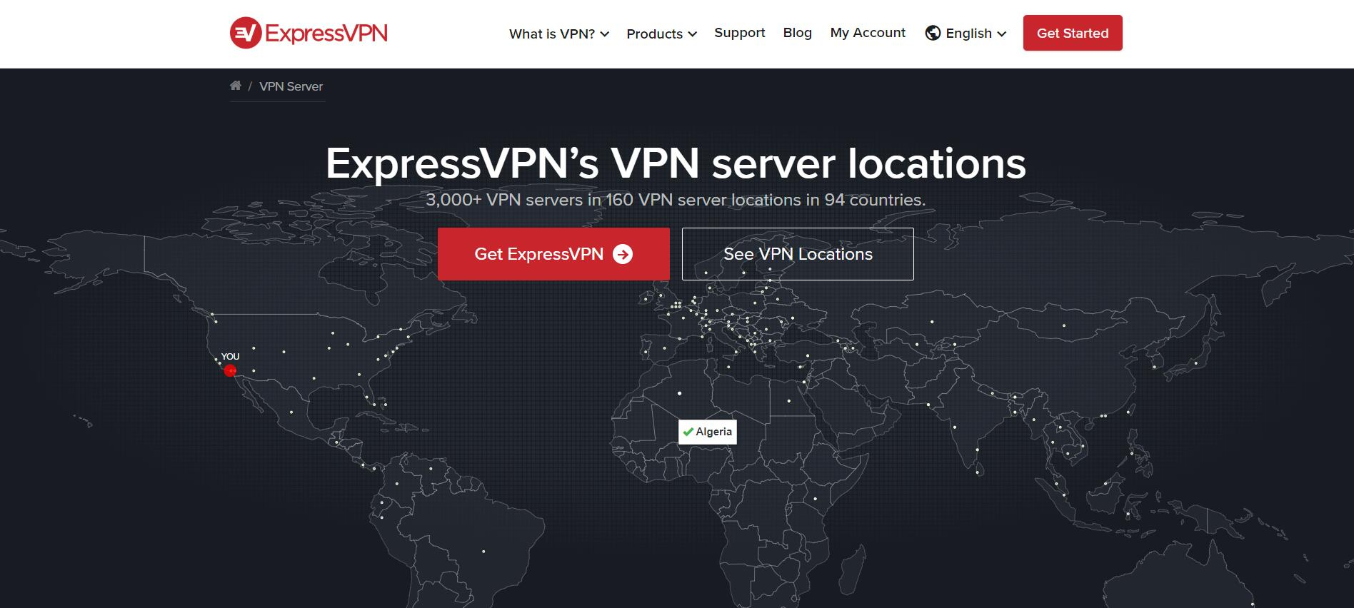 ExpressVPN服务器位置 (1)