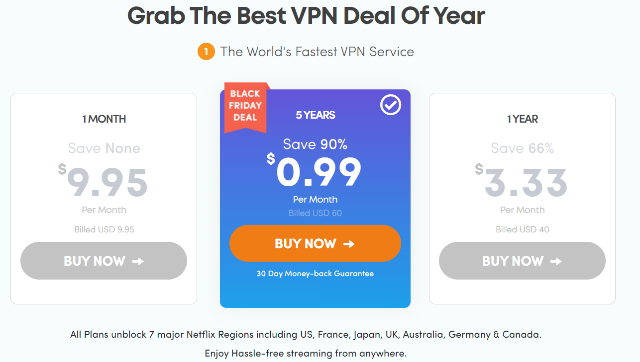 黑五VPN折扣信息汇总5